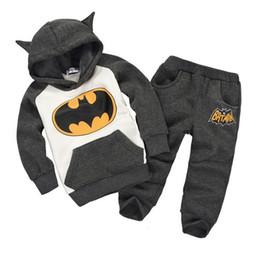 Wholesale Children s autumn clothing sets batman set kids boys clothing set children hoodies pants piieces s l DHL EMS