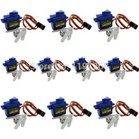Wholesale 10pcs TowerPro SG90 G Micro Servo Motor For RC Robot Helicopter Airplane Controls Parts