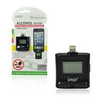 Cheap Ipega lcd digital breathalyzer for iPhone 5 (8 pin) Alcohol Tester 100pcs DHL Free Shipping