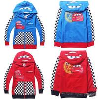 Wholesale 2014 New hot Spring Autumn cartoon Car Zipper cardigan outerwear kids coat children s leisure sports Jackets clothing