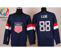 Cheap Wholesale Men's 2014 Winter Olympic Team USA 88# kane Hockey Jersey # Blank Dark Blue Jerseys,mix order