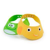Wholesale New Soft Kid Child Baby Shower Bathing Cap safe Shampoo Adjustable baby bath hat Cap Wash Hair Eye Shield Yellow Green Z