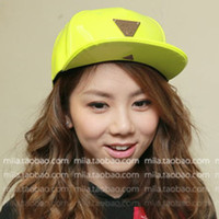Wholesale Hater fashion personality japanned leather candy neon color baseball cap hiphop