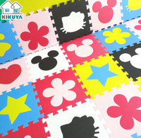 Wholesale Children s soft developing crawling rugs baby play puzzle number letter cartoon eva foam mat pad floor for baby games cm