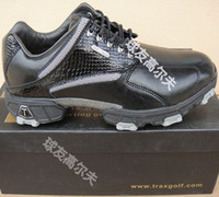 Wholesale Trax waterproof leather crocodile pattern golf ball shoes Men