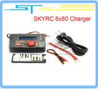 Cheap 2 pcs SKYRC 6X80+ 1-6S AC DC Charger Discharger 80W 10AMP lipo battery charger Bluetooth Version RC Car low ship supernova sale
