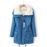 Wholesale 6 Color Padded Coat Women Tops Clothing Pure Color Cotton Thick Coat For Women Lady Winter Warm Cotton Jackets S XXL