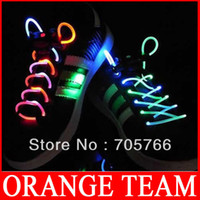 Wholesale Colorful LED Flashing Shoelaces Light Shoe Lace for Christmas Shoelaces LED Light Up Flashing pairs