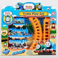 Wholesale Thomas train track tomas electric train set Baby educational toys Small electric splicing rail train birthday gift Boy toys