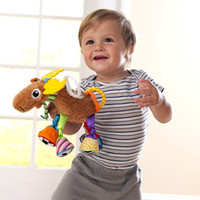 Cheap Hot Sale Baby Rattle Toys Lamaze Multifunction Educational Giraffe Toy Plush Lathe Bed Hanging Yellow Deer Doll Soft Brinquedo