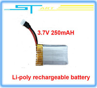 Cheap 2014 New Lipo rechargeable battery 3.7V 250 mAH for RC Quadcopter UFO four -axis aircraft drone Helicopter Free Shipping 2014