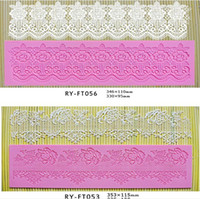 Wholesale flower silicone instant lace fondant cake decoration tools silicone lace mold fondant cake cupcake mold