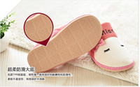 Wholesale Package mail qiu dong season lovely cat butterfly lovers home indoor warm non slip floor men and women to live in cotton slippers