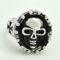 Wholesale Daihe RN0734 devil skull rings for men