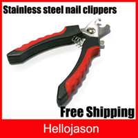 Wholesale Puppy Dog Stainless Steel Pet Nail Clippers Portable Files Practical