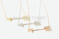 body chain - Top Sale Fashion Jewelry cute mini body chain rose gold frozen one direction arrow necklace Pendant for Women