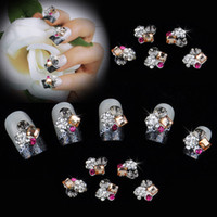 nail charms - 2014 High Quality D DIY Metal Nail Art Rhinestones Tip Decals Decoration Mix Color Pattern Fashion Luxury Charm Jewelry Tools H11933