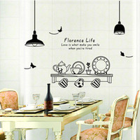 Wholesale Kitchen Utensils Butterfly Letter Removable Wall Stickers Art Decals Mural DIY Wallpaper for Room Decal Home Decoration H12013