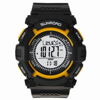 barometer altimeter watch - Sunroad FR820A Multifunction Waterproof Outdoor Sports Military Watch Altimeter Compass Stopwatch Fishing Barometer Pedometer H11937