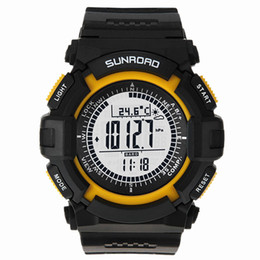 Wholesale Sunroad FR820A Multifunction Waterproof Outdoor Sports Military Watch Altimeter Compass Stopwatch Fishing Barometer Pedometer H11937