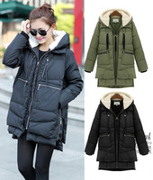 Hooded fur hooded jackets - Women Winter Duck Down Jacket Thick Warm Military OverCoat Fur Hooded Parka Coat