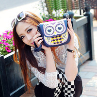 Wholesale Brand New Owl Print Mini Shoulder Bags for Women Small PU Leather Cute Messenger Crossbody Phone Purse Card Bags Girl Ladies H12076