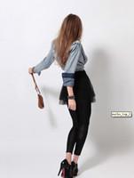 Wholesale 2012 Autumn Women s Denim Long sleeve Fashion Slim Cotton Denim Jeans Shirt