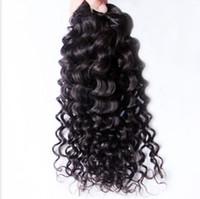 Cheap 50% off brazilian hair bundles 7A grade deep wave remy virgin human hair extension weft weaves 3pcs lot DHL free shipping