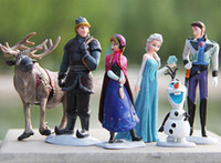 Wholesale Best Gift hot Frozen Piece PVC action Figure Play Set Anna Elsa Hans Kristoff Sven Olaf kid s gift toy For Children SV000972