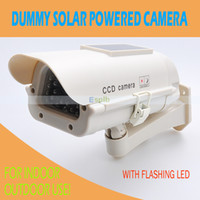 Wholesale Solar Panel Powered Fake Surveillance Security Camera Dummy CCD Camera with LED Light Flashes CCTV