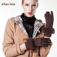 Wholesale Europe where Ms Di casual cloth gloves bike gloves winter weatherization electric vehicles burr cloth gloves