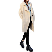 womens jackets - S5Q Womens Windbreaker Ladies Wool Blend Long Sleeve Jacket Cardigan Coat Parka AAADUT