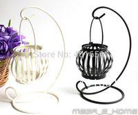 Wholesale Retro Ornaments Pumpkin Iron Candlestick Lamp Home Decor Candle Lantern Craft Candle Holder