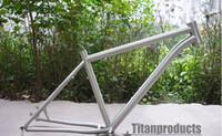 Wholesale titanium bikes frames size quot quot quot for mountain bike