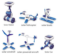 Wholesale Six kinds of games are played the third generation solar toys educational science toys DIY ROBOT