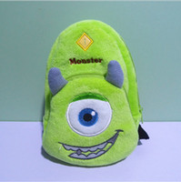 Cheap Cartoon Backpack Coin Cases Plush Mike Wazowski Pokonyan Despicable Me Totoro Minnie Monsters Monsters University Key Purse Storage Bag