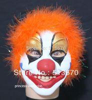 Wholesale Halloween Party Orange Joker Circus Clown Juggler Mask MAH57