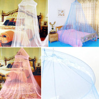 Cheap 1pcs Elegant Dome Mosquito Net Round Lace Insect Bed Canopy Netting Curtain