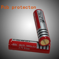 Wholesale New UltraFire v v mAh Ultrafire Rechargeable lithium Li ion Battery with PCB for E Cigarette LED Camera