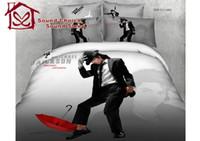 Cheap 100% cotton 3d oil painting bed linen Michael Jackson Marilyn monroe bedding set duvet cover flat sheet pillow case king size