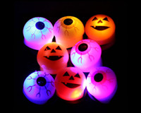 halloween decorations pumpkin - New Halloween LED Flashing Eye Ring pumpkin Lamp Kids Toys Soft Rubber Night Light Novelty Party KTV led Decoration Christmas Gift