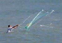 Cheap FREE SHIPPING CN-120 The American style of Cast Net, Fishing Net.Mesh Size 2.0cm. Radius 2.1M,Catch Bait Catch live bait