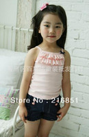 Cheap Wholesale-Free shipping, 2013 NEW Summer tank top+shorts clothing sets clothes clothing for girls boys baby kids child children