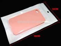 Wholesale 1000pcs White translucent BOPP pearl film ziplock bag retail packages valve bag food for phone case cm