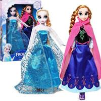 fashion dolls - Anna Elsa Toys Princess dolls Inch Nice Gift For Kids Girl Classic Cartoon Toys For Baby Kids Fashion Gift SV005083
