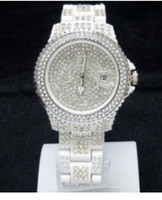 auto plastic toy - Toy diamond watches watch female Swarovski crystal watches full diamond stars watch with calendar table milk white glue