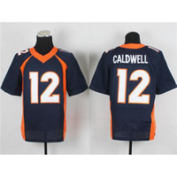 Cheap #12 Caldwell Dark Blue Elite American Football Jerseys Cheap and High Quality Stitched Football Uniform Sportswear 2014 New Season Hot Sales