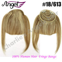 Wholesale Charlie s Angels Human Hair Fringe Bangs Clip In On Side Natural Hair Bangs Long Human Hair Extensions Colors Optional