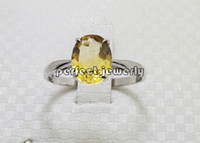 Cheap Citrine ring Natural citrine ring 925 sterling silver plated 18k white gold Perfect jewelry DH#14091309