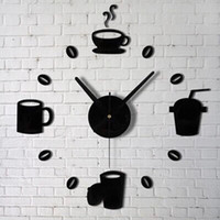 Wholesale New Fashion Acrylic DIY Self Adhesive Interior Wall Creative Decoration Clock Jecksion
